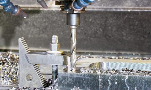 Industrial metal mold blank speed drilling